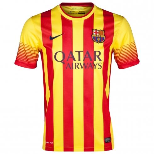 Camiseta Niño del FC Barcelona 2013 2014 Segunda Equipación - EL ... 5e19cdebd76