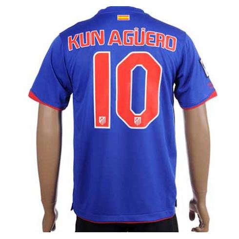 Camiseta Del Kun Ag Ero Del Atl Tico De Madrid Temporada 2010 2011
