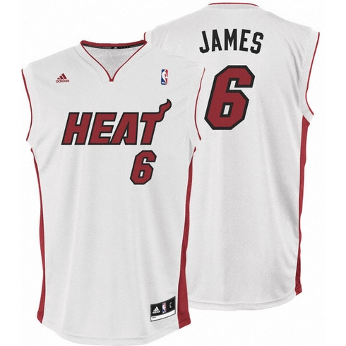 Camiseta Blanca de LeBron James de los Miami Heat Temporada 2010/2011