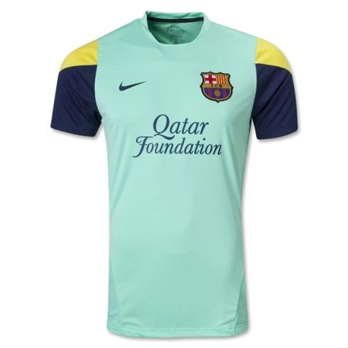 404d3761c1e33 Camiseta de Entrenamiento Verde del FC Barcelona 2013 2014 - EL UTILLERO
