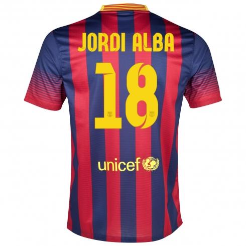 camiseta de jordi alba del fc barcelona 20132014 el