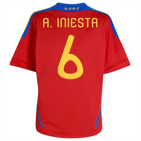 Camiseta de Iniesta España Niño Temporada 2011/2012 - EL ...