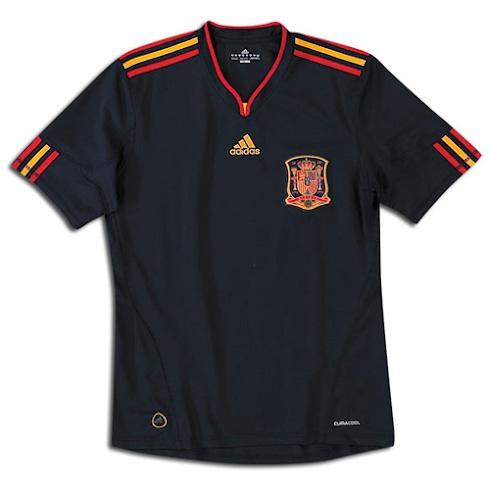 Camiseta de la Selección Española Mundial Sudáfrica 2010 Segunda Equipación - EL UTILLERO